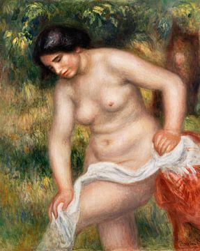 Badende Frau, die ihren Körper abtrocknet, Pierre-Auguste Renoir (1901-1902) von Atelier Liesjes