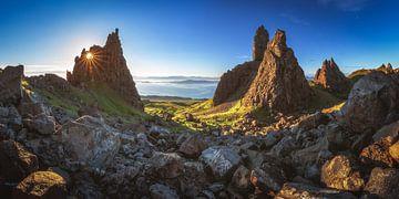Old Man of Storr auf der Skye Panorama zum Sonnenaufgang von Jean Claude Castor