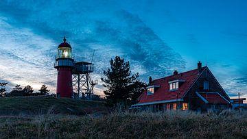 Vuurboetsduin avec phare et maison Vlieland.