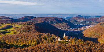 Château de Lichtenstein sur le Jura souabe sur Werner Dieterich