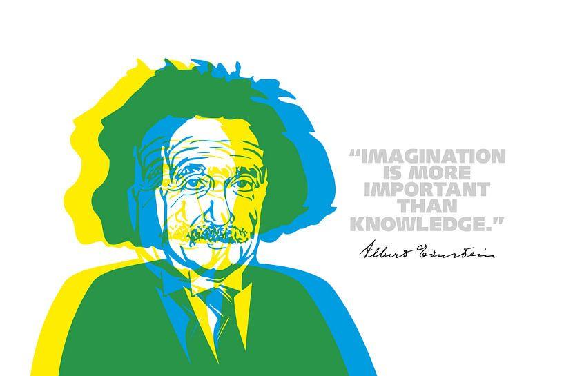 Albert Einstein Quote van Harry Hadders