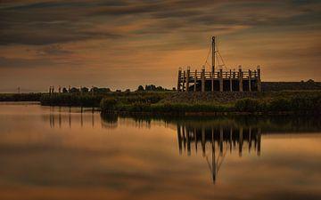 Oude havenmond Elburg van Jos Reimering