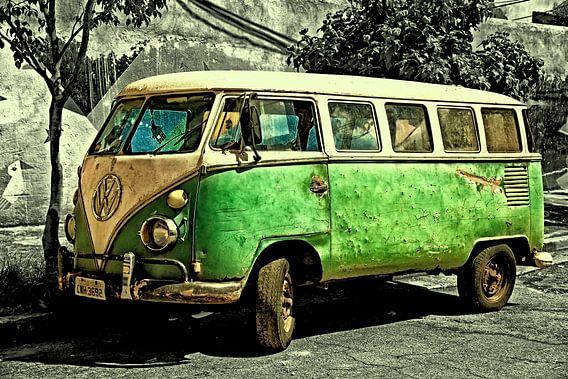Oude Volkswagenbus.