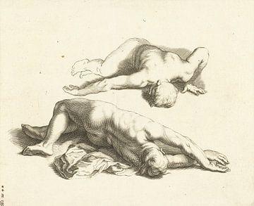 Abraham Bloemaert, Das Zeichenbuch von, Zwei männliche Akte, um 1679 von Atelier Liesjes