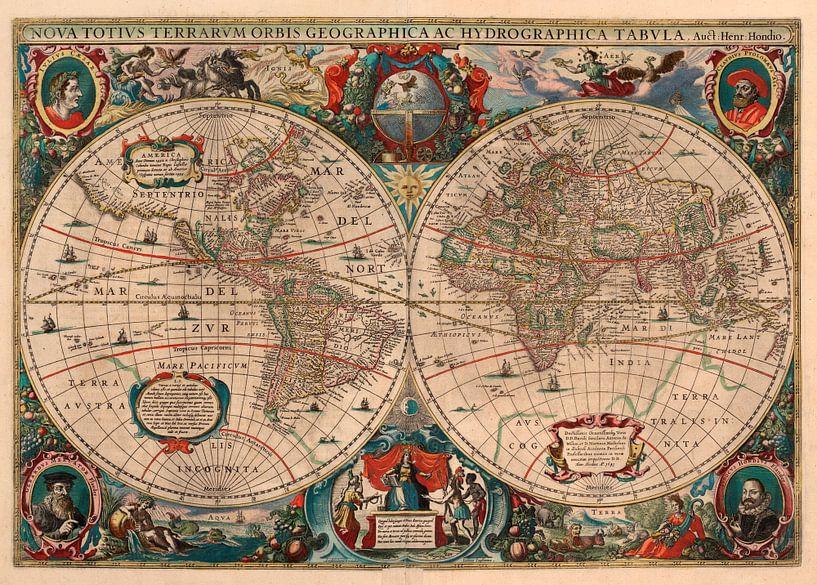 Hondius verdenskart, 1641 van Rebel Ontwerp