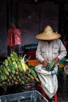 Marktkoopman Maleisië van Andre Kivits