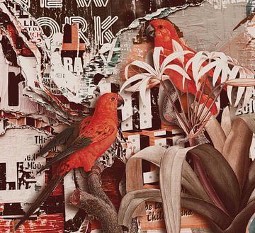 Papageien auf Straßenkunst von Rudy & Gisela Schlechter