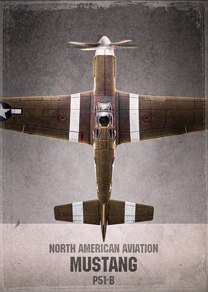 Mustang - warbird - vliegtuig van Stefan Witte