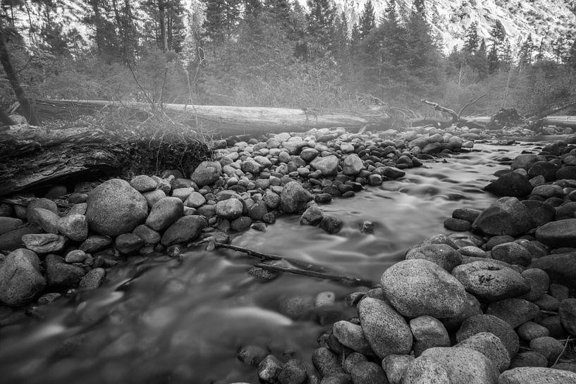 Misty river von Ton Kool