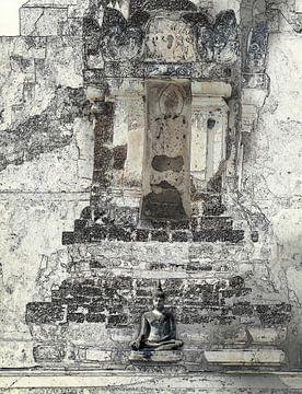 Little Buddha in den Tempel, Thailand von Rietje Bulthuis