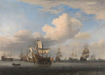 Gefangene Englische Schiffe - Willem van de Velde von Meesterlijcke Meesters