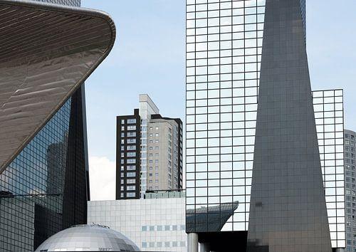 Moderne architectuur in Rotterdam centrum van