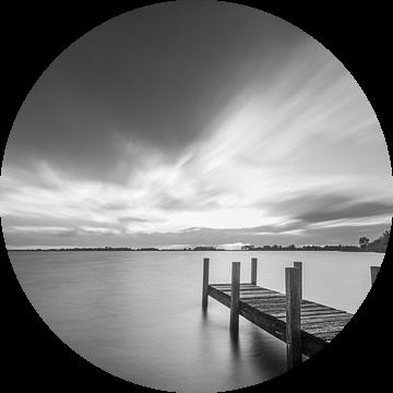 Steiger in zwart wit van Peter Abbes