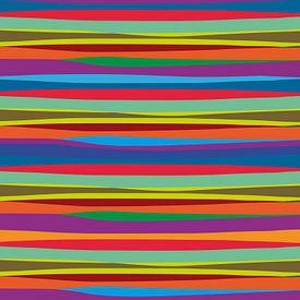 Abstracte kleurrijke golven gemaakt op de computer van Jolanta Mayerberg