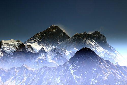 Mount Everest Gipfel van Gerhard Albicker