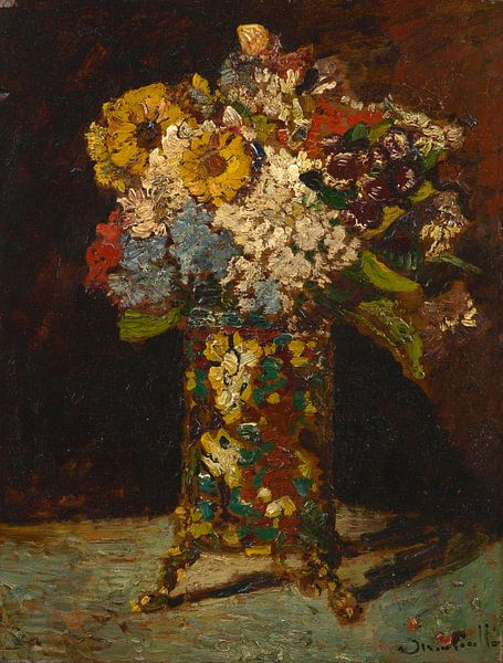 Vaas met bloemen, Adolphe Monticelli van Meesterlijcke Meesters