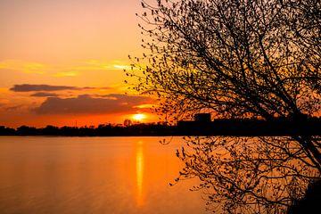 Galgenweel bij zonsondergang. sur Christel Stevens