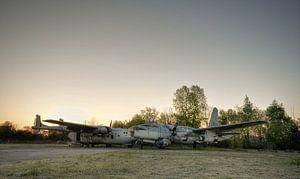 Verlaten vliegtuigen van