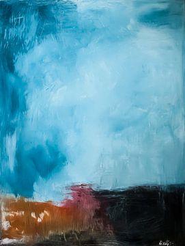 Abstrakte Landschaft #1 von Natalia Cywinska