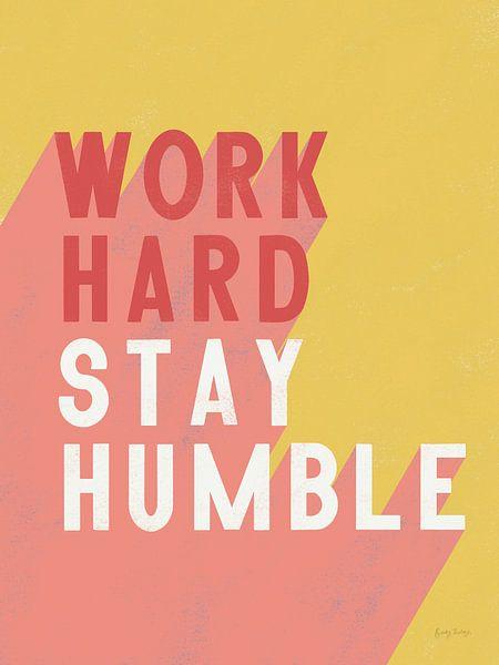 Work Hard Stay Humble Crop, Becky Thorns van Wild Apple