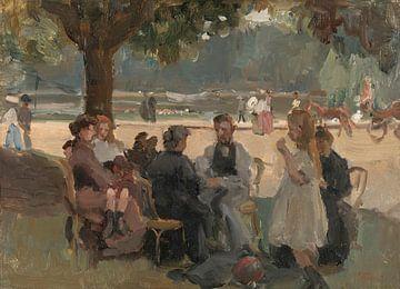 Im Bois de Boulogne bei Paris, Isaac Israels, um 1906.