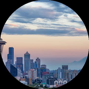 Seattle Skyline van Thomas Klinder