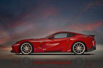 Ferrari 812 Superfast van Gert Hilbink