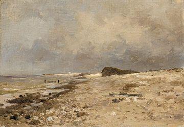 Carlos de Haes-Desembocadura del Sena, Meereslandschaft, Antike Landschaft