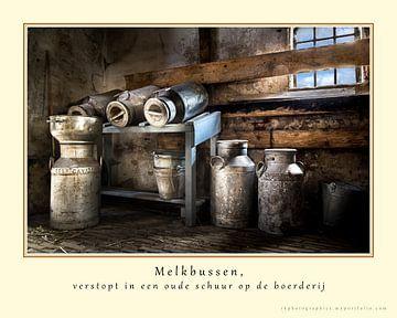 Melkbussen (in kleur) van