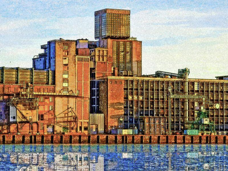 Graansilo Rijnhaven, Rotterdam van Frans Blok