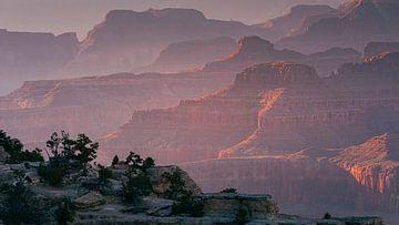 Zonsondergang aan de Grand Canyon