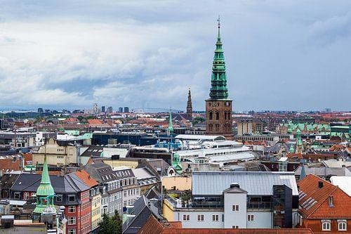 View over Copenhagen van Rico Ködder