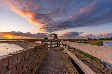 Mahlen Sie den Sonnenuntergang von Nord-Texel von Texel360Fotografie Richard Heerschap