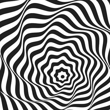 Wellenlinien der optischen Täuschung in der Sternform von Mike Maes