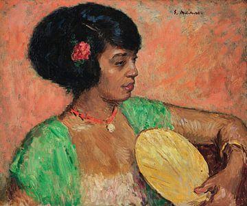Frau in einem Arbeitszimmer - Gari Melchers, 1916 von Atelier Liesjes
