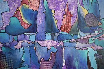 """Paarse bomen van Janny Schilderink......Atelier """"de Tuute """""""