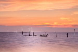 Zee zonsondergang Rockanje Zeeland  van Silvia Thiel