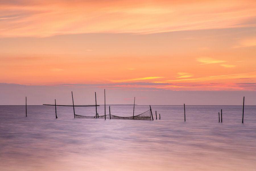 Zee zonsondergang Rockanje Zeeland