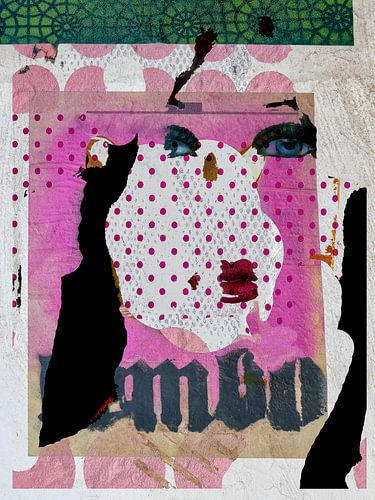 The face with the pink dots von Gabi Hampe