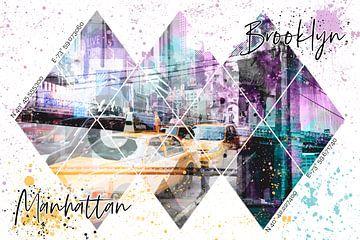 MODERN ART Koordinaten MANHATTAN & BROOKLYN von Melanie Viola