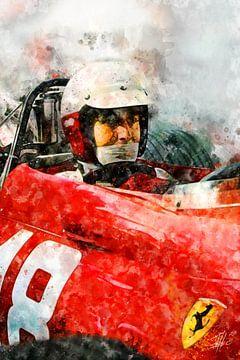 Lorenzo Bandini, Ferrari Close von Theodor Decker