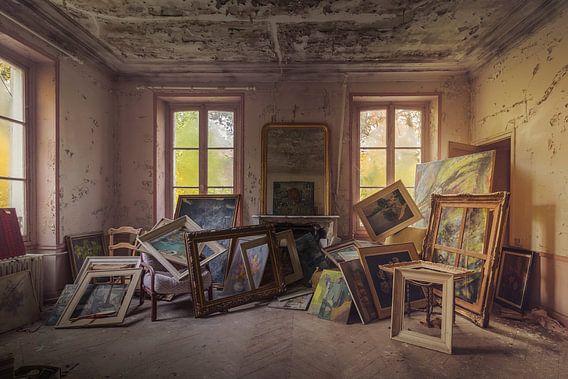 Het schildersatelier in het avondzonnetje von Truus Nijland