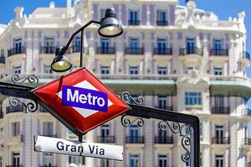 Gran Via metrostation in Madrid van Easycopters