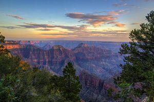 Zonsondergang Grand Canyon (North-Rim) van