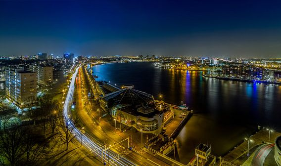 Panorama van Rotterdam van MS Fotografie