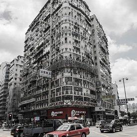 Vue de la rue de Hong Kong sur Roland de Zeeuw fotografie