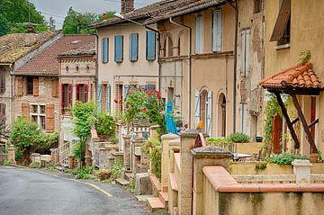 Eine Straße in Gaillac von Christa Thieme-Krus