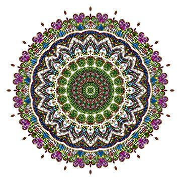 Mandala fleur sur Marion Tenbergen