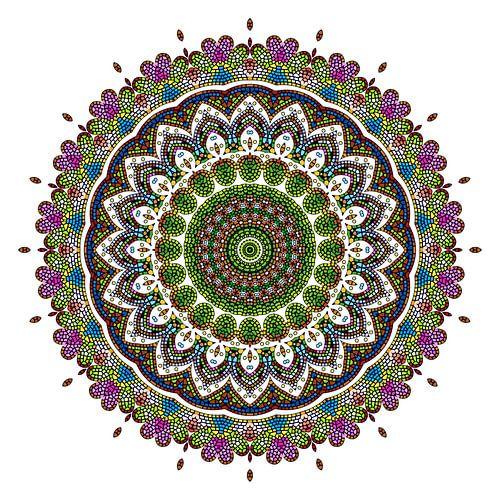 Mandala bloem van Marion Tenbergen