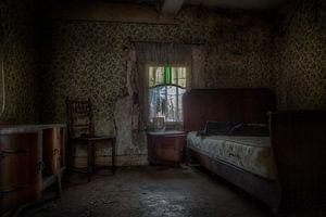 Verlaten slaapkamer van Eus Driessen